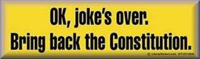 Joke's over