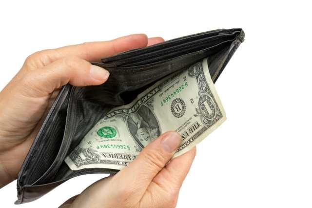 dollar in wallet