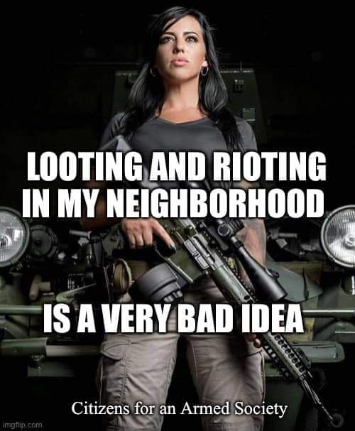 looting and rioting bad idea